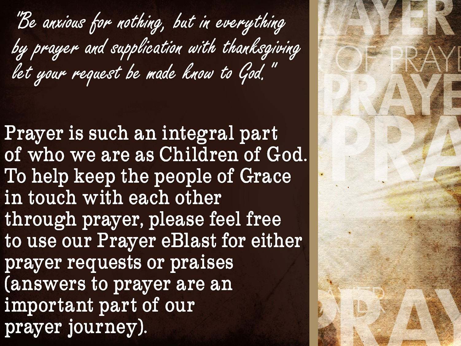 Power of Prayer Worship Background